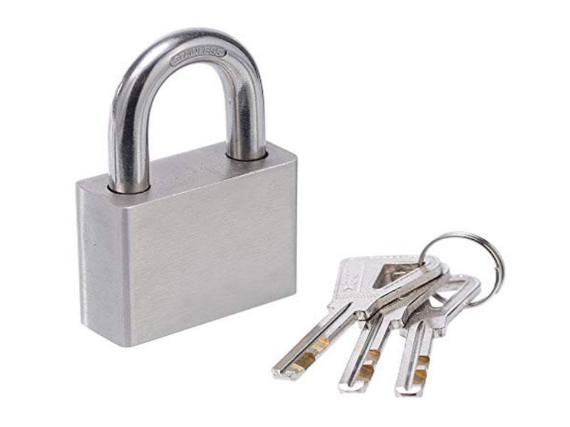 Stainless Steel Flat Tumbler Padlock, Anti Rust Lock,Waterproof Padlock for Outdoor use- Stainless Steel Body & Shackle